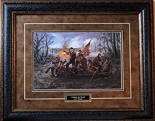 Jon McNaughton Crossing The Swamp Donald Trump Art Print-Framed 26 x 21