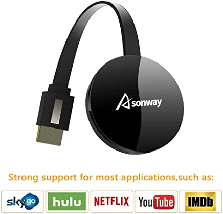 $28 Get Wireless Display Dongle - WiFi Portable Display Adapter TV Projector, HDMI 1080P Digital TV Receiver, Support Airplay DLNA Miracast, Compatible with iOS/Android Smartphones/Windows/Mac/Laptop