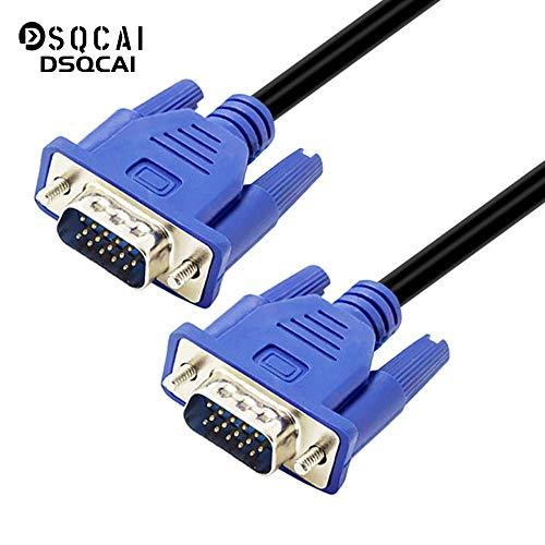 Dsqcai para VGA Cable VGA, SVGA VGA Macho a Macho Cable de Monitor de Ordenador - Soporta resoluciones a 800x600 (SVGA) 1024x768 (XGA) 1600x1200 (UXGA) 1080P (Full HD) 1920x1200 (WUXGA),10m/33ft