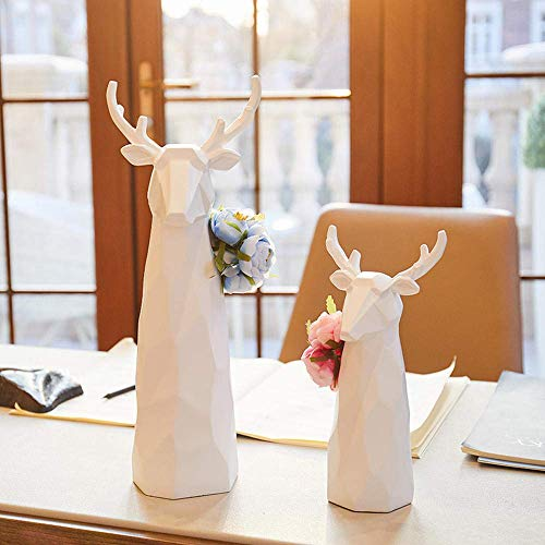 Chenbz Adornos Esculturas Estatua Figuras Decoraciones, Origami Inserte la decoración del florero moderno minimalista ciervos Decoración Mueble de televisión gabinete del vino Crafts