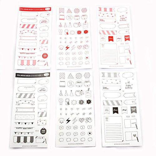 Preisvergleich Produktbild hellohelio Papier Pack Memo Aufkleber für Fujifilm Instax Mini Film und Scrapbook Album,  meine Botschaft