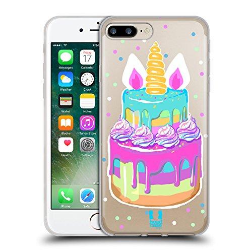 Head Case Designs Pastel del Arco Iris Treats de Unicornio Carcasa de Gel de Silicona Compatible con Apple iPhone 7 Plus/iPhone 8 Plus
