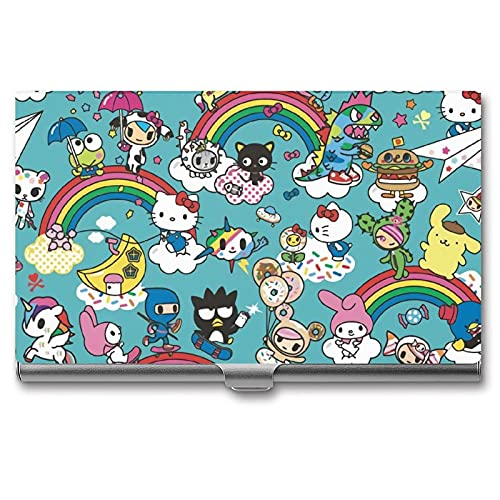 Hello Kitty Card Case Business Card Holder Aluminum RFID Blocking Organizer Name Card Box Name Card Holder fit Men & Women Wallet Credit Card ID Case/Holder Protector Case