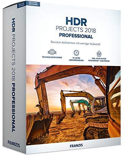 FRANZIS HDR projects 2018 professional | Perfekte Belichtung dank HDR | für Windows PC und Mac |CD-ROM
