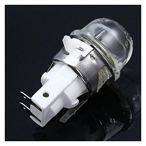 E14 2501 - Soporte para lámparas de horno, frente de horno de alta temperatura de 300 grados, cubierta de horno con bombillas de 15 W.