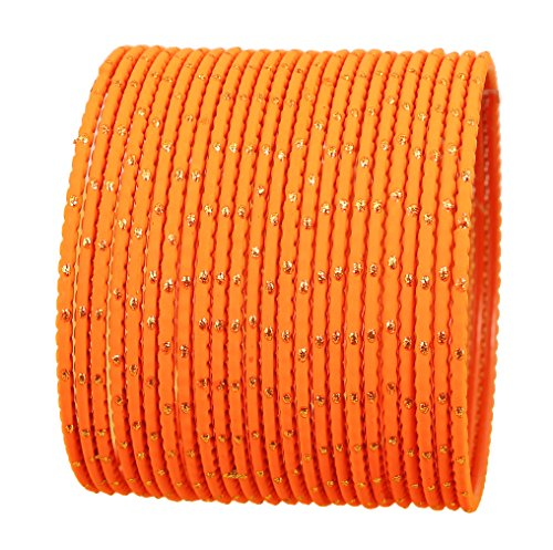 Touchstone Bangle Collection Exklusive Glasur Designer Schmuck spezielle Armreifen Armbänder für Damen 2.75 Set 2 Möhre orange