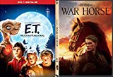 Incredible Tale loyalty, hope Fantasy Stephen Spielberg Double Magical Adventure Movie Set War Horse Story + E.T. The Extra Terrestrial 2 DVD Family Fun Bundle