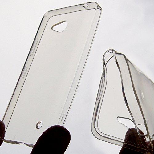 PIEFFELINE Schutzhülle aus Silikon, dünn, transparent, für Microsoft Nokia Lumia 640 LTE