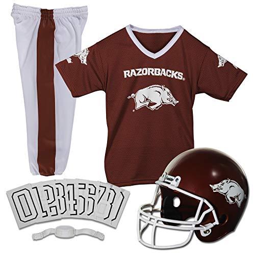 Franklin Sports NCAA Arkansas Razorbacks Kids College Football Uniform Set - Youth Uniform Set - Includes Jersey, Helmet, Pants - Youth Medium