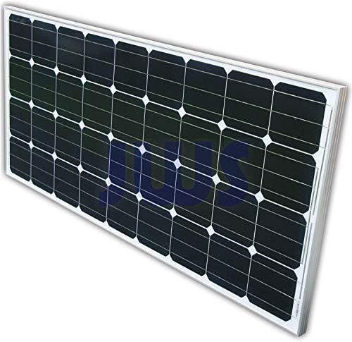 Hochwertiges160W Monokristallines Solarpanel Solarmodul ideal für Wohnmobil, Gartenhäuse, Boot
