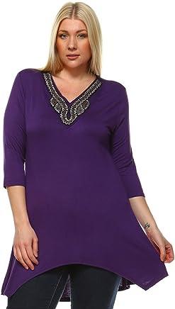 59177281416c Aris Ultra Soft Stretch Beaded Tunic Dress Plus Bundle  Top   Bag