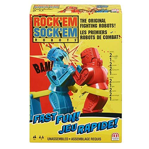 Mattel Games -Rock'em Sock'em robots de lucha, juegos niños