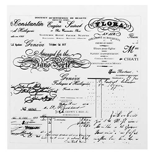 Manman Clear Stamps, PVC Transparent Stempel Siegel Phantasie Schrift Niedliche Muster DIY Sammelalbum Fotoalbum Kartendekor Englisch Buchstaben,
