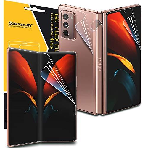 GOBUKEE [1 Satz 4 Stück] Schutzfolie Kompatibel mit Galaxy Z Fold 2 5G 3D Vollabdeckung Klar HD Weich TPU Displayschutzfolie [Fingerabdruckerkennung] Panzerglas für Galaxy Z Fold2 5G [N]