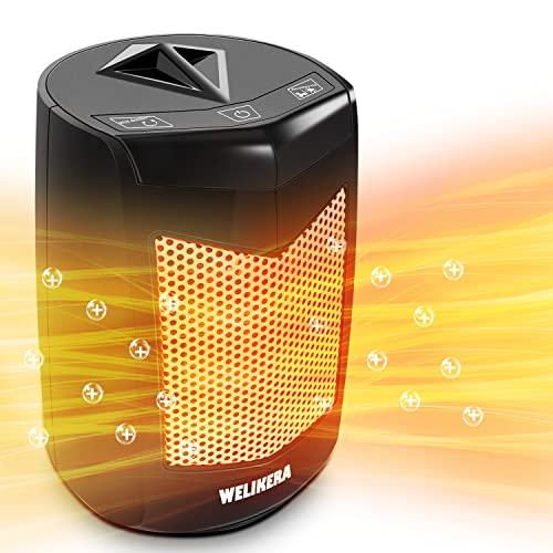Calefactor Eléctrico -Calefactor Cerámico -Portáti, de Cerámica Personal de Aire Caliente con Oscilación Automática, Protección contra Sobrecalentamiento y Volcado, para Hogar y Oficina