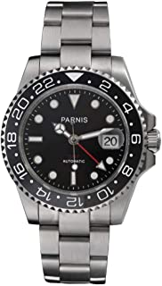 Fanmis Ceramic Bezel GMT-Master Ii Black Dial Automatic Mechanical Ladies Men's Silver Steel Watch Pa-253