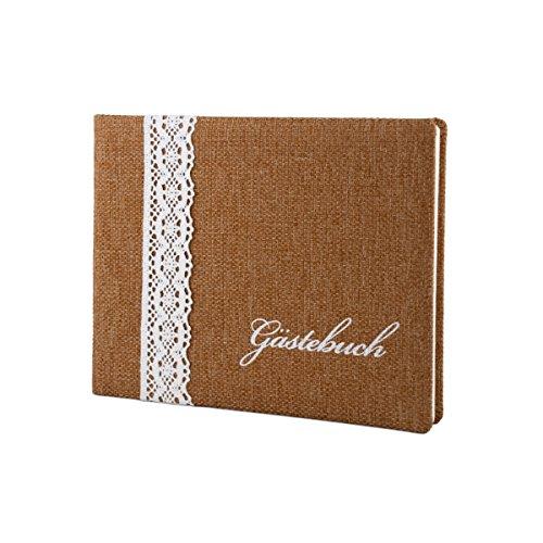 Hochzeitsgästebuch im edlen weddix Design - Gästebuch zur Hochzeit, Geburtstag, Taufe