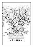 Generic Helsinki Karte Wandkunst Aufeinander Abgestimmt