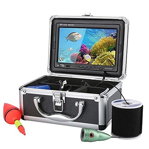 Buscador De Pescados, TV LCD Digital De 7 Pulgadas TV 1000TVL FINTADOR DE Pescado HD DVR Grabador De Video A Prueba De Agua Video De Pesca Bajo El Agua Cámara De Pesca,30m