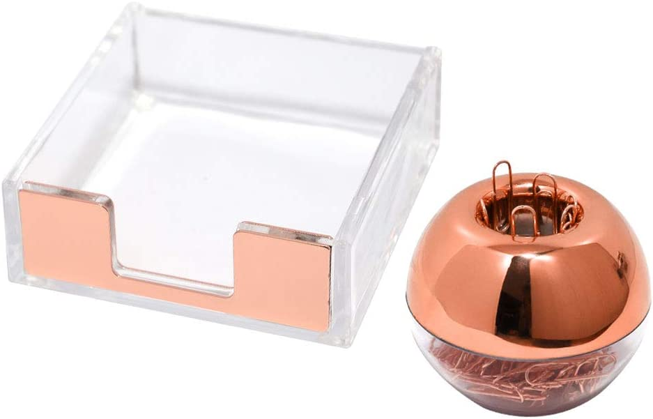 Spring new work Buqoo Clear Sticky Memo Pad Ranking TOP12 Holder Gold Paper Rose 100 Magnetic