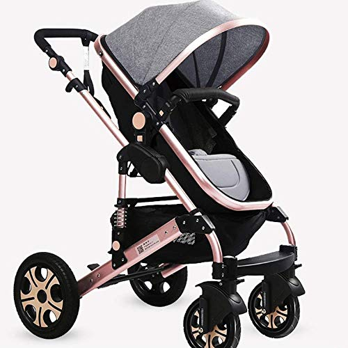 Sale!! Pushchairs Baby Stroller Portable Baby Carriage Anti-Shock Springs Foldable Strollers Adjusta...
