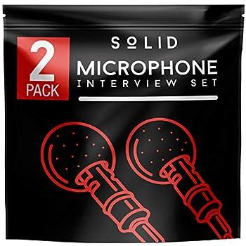 SoLID  TM  Lavalier Lapel Microphone 2 Pack Complete Set Omnidirectional Mic for Desktop PC Computer Mac Smartphone iPhone GoPro DSLR Camcorder for Podcast YouTube Vlogging and DJs