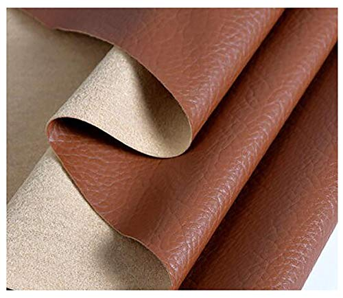 GERYUXA kunstlederKunstleder Weich Lederimitat Wasserdicht Leder Stoff Polsterstofffür Stuhl Bank Sessel Sofa Sitzbezug -Braun t5 1.38x3m