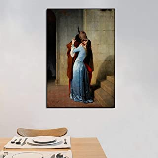 Canvas Painting Decorative Paintings The Classical Characters Kiss Poster and Prints Wall Art Canvas Painting Lover Pictur...