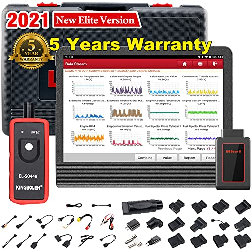 2021 Upgraded Version LAUNCH X431 V Pro 4.0 Bidirectional Scan Tool All System Diagnostic Tool with ECU Coding,Key Program,Active Test,31+ Reset Functions,Variant Coding,AutoAuth for FCA SGW,TPMS Tool