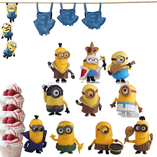 ​Minions Action Figures, Anime Figures, 10 PCS Minions Characters Action Figures Pack, Cake Toppers Party Favor Decoration Toys Birthday Gift Set