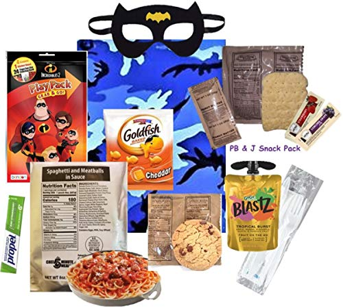 KIDS MRE (for a BOY) Full Meal Several Entrée Options w/ Play Pack & more! (Pepperoni Pizza Slice)
