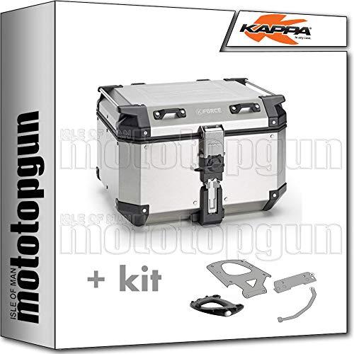 kappa maleta kfr480a k'force 48 lt + portaequipaje monokey compatible con honda xl 125 v varadero 2005 05