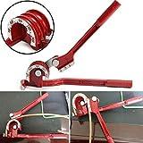 Macchina per piegare i tubi a 90 °C, piegare manualmente tre in uno, tubo di rame, tubo di aria condizionata, strumento a gomito manuale