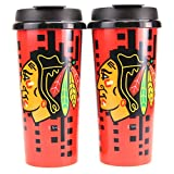 Whirley Drink Works NHL Digital Plastic 16oz Travel Mug 2 Pack (Chicago Blackhawks)