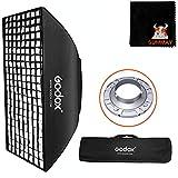 GODOX 70cm x 100cm Studio Flash Honeycomb Grid Softbox con Bolsa de Transporte para Bowens Mount Flash Speedlite (SB-FW70100)