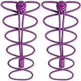 CampTeck Schnürsenkel mit Schnellverschluss - Elastische Schnürsenkel mit Schnellschnürsystem ideal für Kinder, ältere Menschen, Läufer, Sport, Sportschuhe, Marathon - Lila (1 Paar)