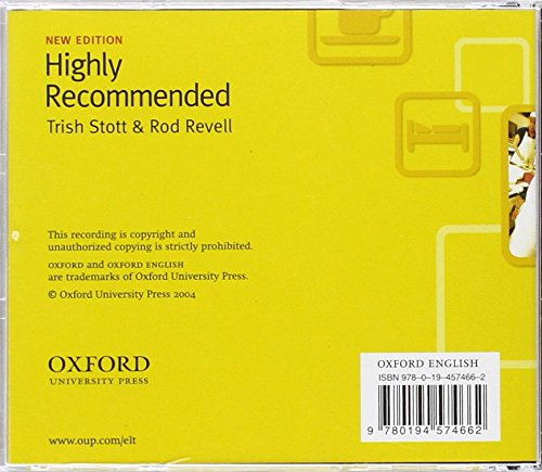 Highly Recommended, New Edition: Class CD: English for the Hotel and Catering Industry Class Audio CD