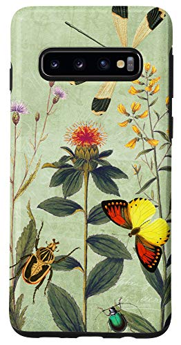 Galaxy S10 Elegant Wildflowers and Thistles Case