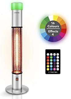 TROTEC Calefactor por Radiación de diseño para Terrazas IRS 1500 E radiador infrarrojo 1.500 vatios con LED de 16 Colores y 4 Efectos