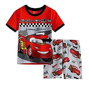(スマートキッズ) SMARTKIDS 綿100%半袖男の子パジャマ上下セット車柄赤色 (110cm)