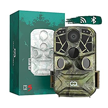 WiFi Bluetooth Trail Camera COOAU 4K 24MP Hunting Game Camera with No Glow Night Vision Motion Activated Waterproof Wildlife Camera for Outdoor Scouting Wildlife Monitoring and Hunting