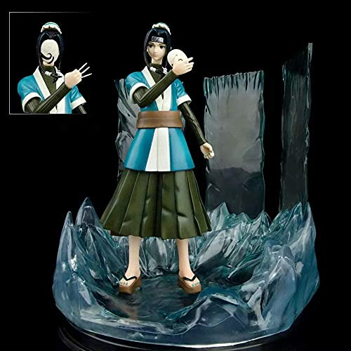 Naruto Momochi Zabuza Lover Spell Mirror Hielo Cristal Cuello Ninja Blanco GK PVC Material Material Anime Figura Modelo Estatua de Regalo de Juguete en Caja