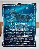 私の妻にあなたは私の愛ですソファベッドソファ用マイクロファイバーフランネルブランケット超豪華な暖かくて居心地の良いオールシーズンバレンタインデープレゼント,C,150*200