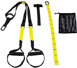 レジスタンスストラップトレーニングキットスリングトレーナーフィットネスプルロープサスペンションプルベルトトレーニングベルトレジスタンスプーラーイエロー