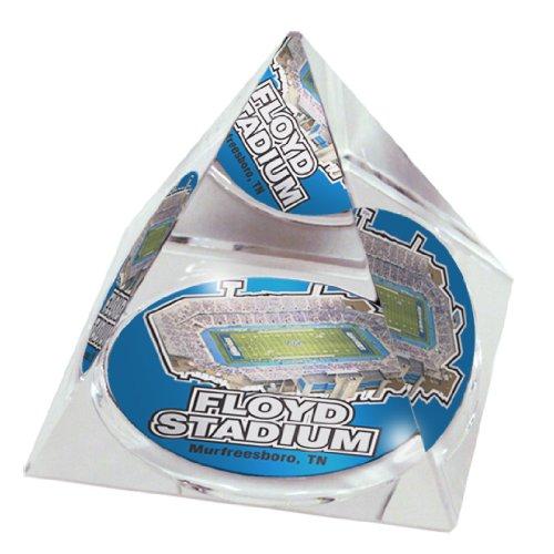 NCAA Middle Tennessee State University blau Raiders Stadium in 5,1cm Kristall Pyramide mit bunten verglaste Geschenkbox