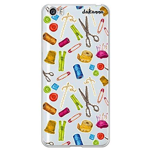dakanna Funda para [ Xiaomi Mi5 / Mi 5 ] de Silicona Flexible, Dibujo Diseño [ Patrón Utensilios Costura y confección ], Color [Fondo Transparente] Carcasa Case Cover de Gel TPU para Smartphone