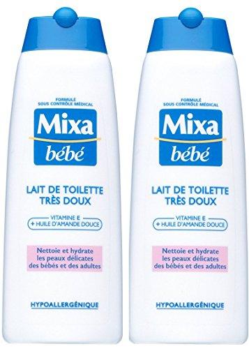 Mixa Bébé Lait de Toilette Très Doux 250 ml - Lot de 2