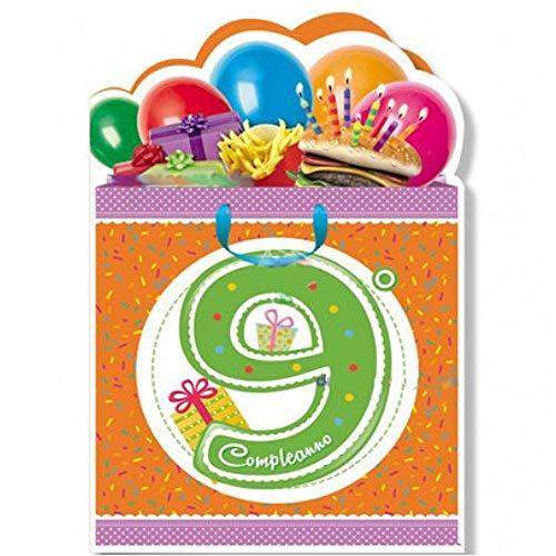 Cromo Biglietto Di Auguri Compleanno 9 Anni