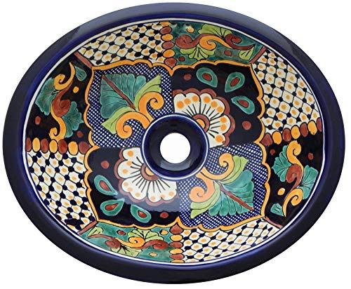 Mexikanisches Waschbecken Handbemalt 16 x 11,5# 30