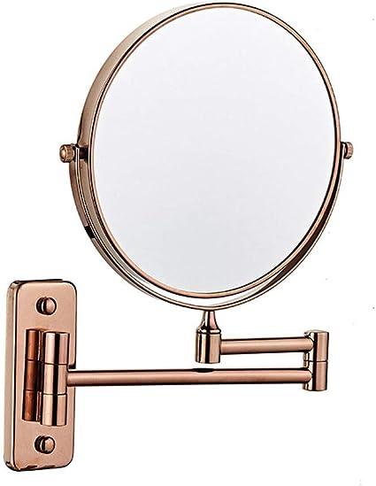 MRJ Specchio Ingranditore da Trucco con Luce LED USB Ricaricabile Specchio Trucco da Parete Lente dIngrandimento 3X e Specchio Piatto Allungabile Girevole 360 /° Tondo